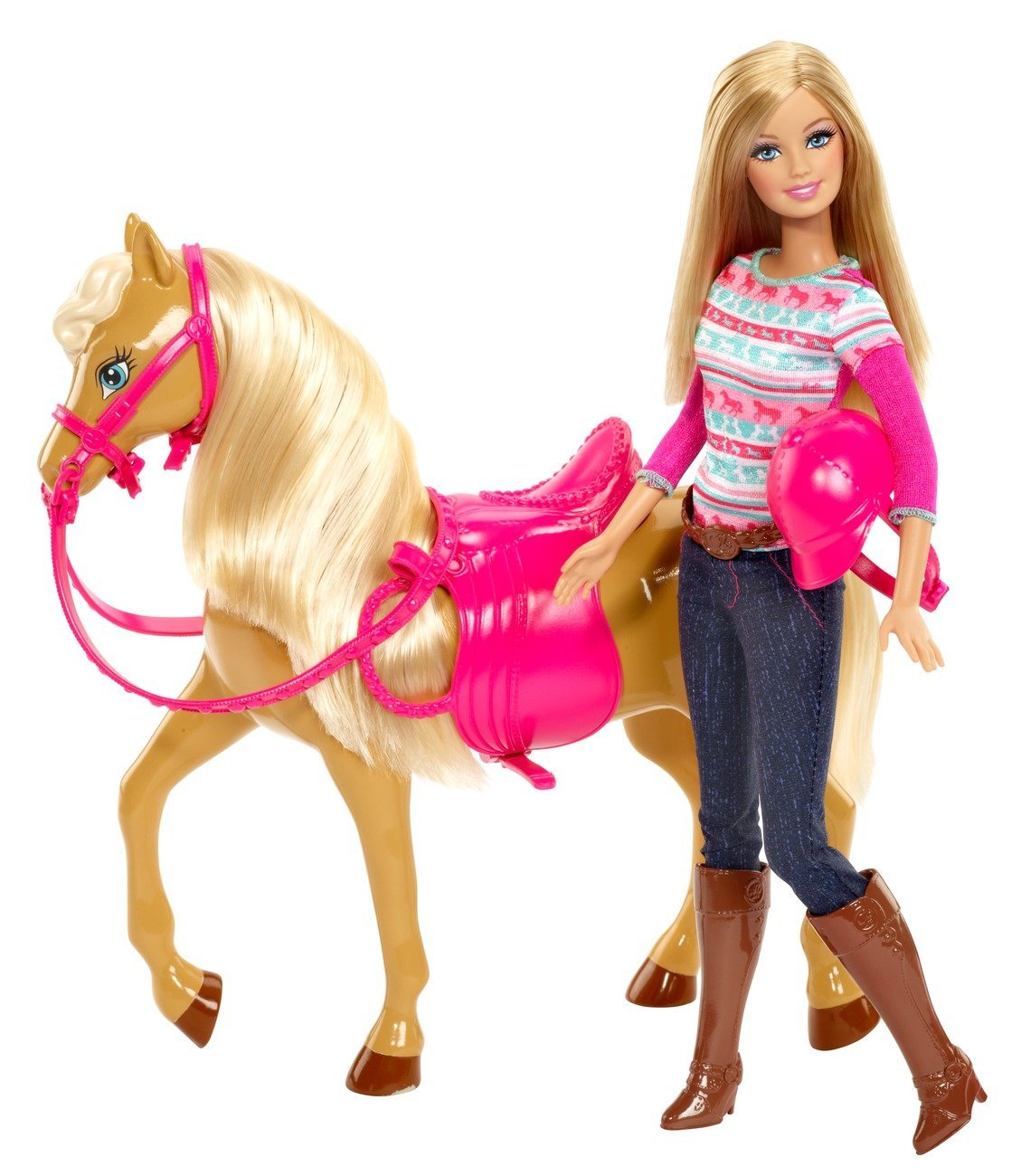 Barbie Poppen Barbie en paard Tawny  Goedkoop bij Poptiek.nl